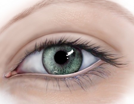 Eye illustrations for patient information